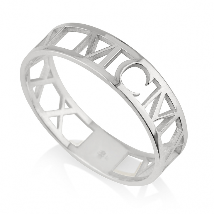 personalized white gold anniversary ring