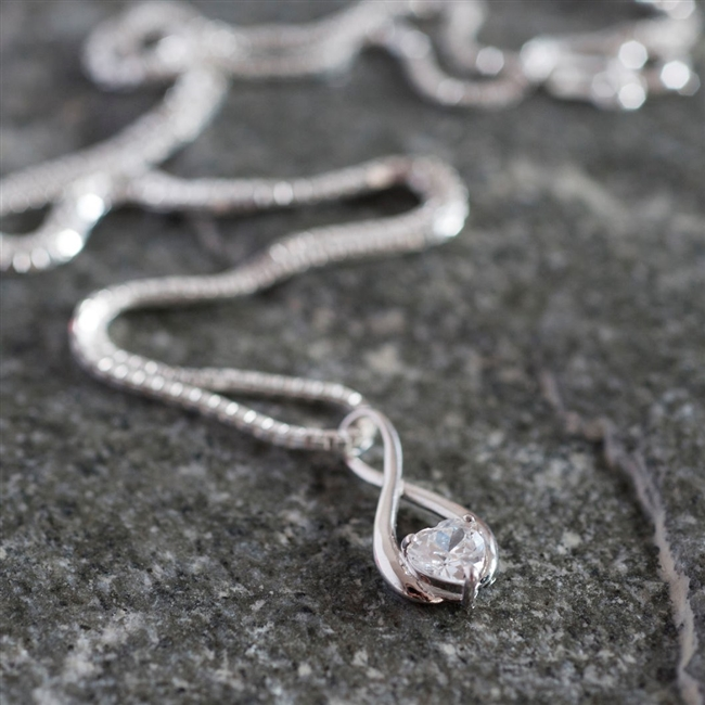 White Gold Infinity Necklace