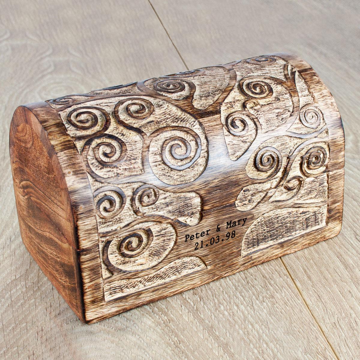 Wooden Anniversary Memory Box