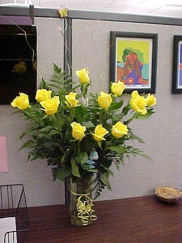 yellow anniversary roses