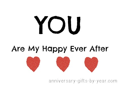 love quote - you are my happily ever after